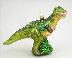 t rex dinosaur blown glass ornament co uk kitchen