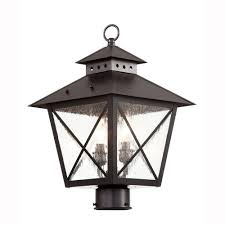 farmhouse outdoor lighting bel air lighting farmhouse 2 light outdoor black post top lantern