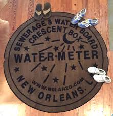 new orleans water meter 60 plush new orleans water meter doormat new pre order only