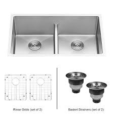30 inch undermount double kitchen sink ruvati 30 inch low divide undermount tight radius 50 50 double bowl