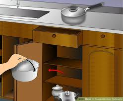 Ways To Clean Kitchen Cabinets WikiHow - Cleaner for kitchen cabinets