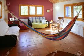 Nice Living Rooms Nice Living Room With Colorful Hanged Mexican Hammock In Spain