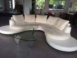 canape daim canapé d angle cuir et tissu daim blanc et beige ebay