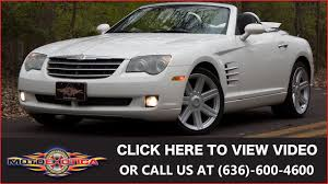 2006 chrysler crossfire convertible sold youtube