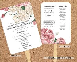 print at home wedding programs wedding program bold floral diy editable word template