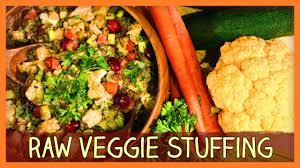 vegetarian thanksgiving stuffing recipes thanksgiving raw veggie stuffing youtube
