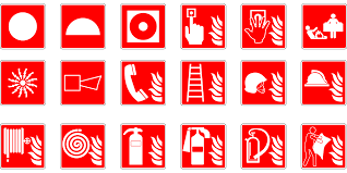 fire extinguisher plan symbol
