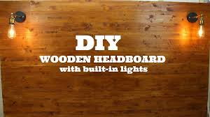 Headboards With Built In Lights Create A Wooden Headboard With Built In Lights