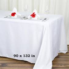 table linens for weddings 90x132 white wholesale polyester rectangular oblong banquet linen