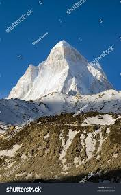 view shivling mountain 6540m high edge stock photo 2218771