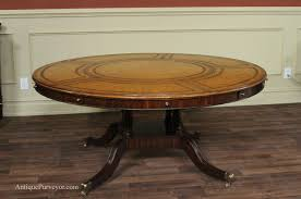 What Size Round Table Seats 10 Maitland Smith Leather Top Large Round Dining Table With Leaves
