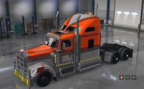 2017 kenworth w900 gray orange kenworth w900 skin ats mod american truck