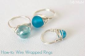 make your own engagement ring wire rings tutorial how to make wire wrapped bead rings