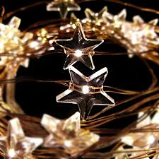 10 pcs christmas holiday lighting star shaped theme 3aa battery