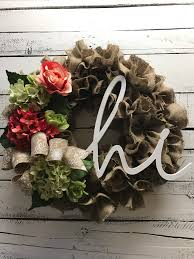 burlap spring summer wreath rustic burlap wreath decorative