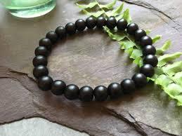 onyx bead bracelet images Plain matte black onyx bead bracelet livbeads jpg