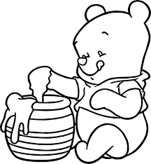 baby pooh honey coloring page wecoloringpage