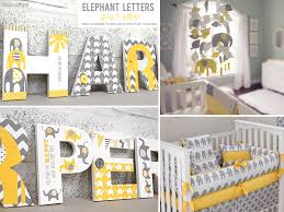yellow u0026 grey elephant nursery letters nursery pinterest