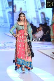 anarkali frocks in bridal couture week 2016 trendy mods com
