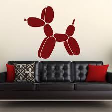 balloon dog fire engine red walltat touch of modern