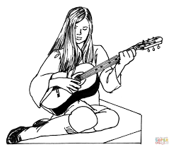 inspirational guitar coloring pages 73 for picture coloring page