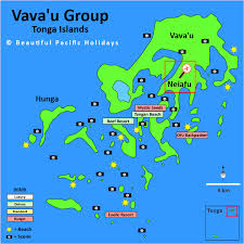 tonga map map of vavau islands in tonga showing hotel locations