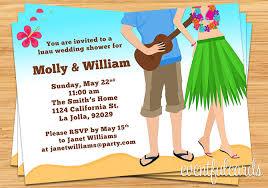 hawaiian themed wedding invitations luau couples wedding shower invitation