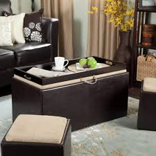 Black Leather Ottoman Coffee Table Attractive Ottoman Coffee Table Tray Designs Ottoman