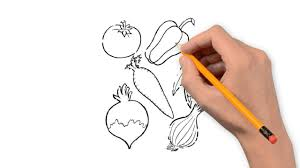vegetables the nature of a pencil to draw step by step youtube