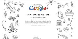 What Makes Me Me - google s doodle competition opens this time letting students use