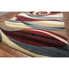 Large Modern Area Rugs Modern Area Rug Beige Blue Brown Wave Swirls Living Room
