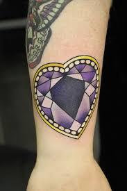 purple diamond heart tattoo by phatt german tattoo tattoos neo