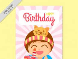 happy birthday card with kids free vector free vectors ui download