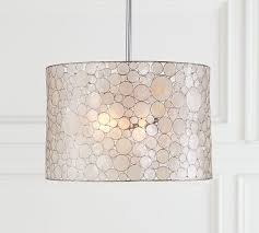 Drum Pendant Lights Marina Drum Pendant Pottery Barn