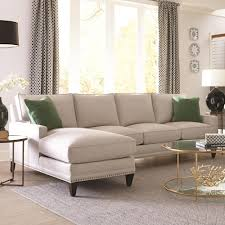 Living Room Sectionals With Chaise Rowe My Style Ii Transitional Sofa With Chaise And Track Arms
