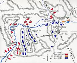 Salamanca Spain Map by Battle Of Vitoria