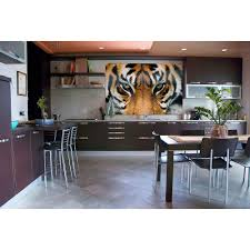 ideal decor 69 in h x 45 in w tiger wall mural dm608 the home