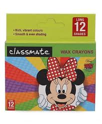 classmate products online disney mickey mouse classmate wax crayons 12 shades online in