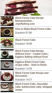 black forest cake recipe android apps on google play