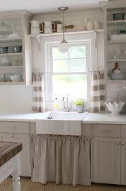 kitchen window ideas pictures the open shelving cabinet curtain the sink for the