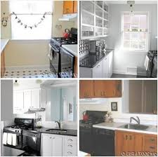 Galley Kitchen Makeovers - small apartment kitchens charming light before after a modest