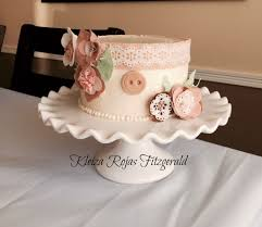 Shabby Chic Shower by Shabby Chic Vintage Bridal Shower Cake Cakecentral Com