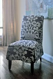 Dining Room Chair Slipcover Patterns Furniture Perfect For Unexpected Guests With Ottoman Slipcovers