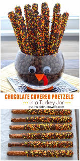 thanksgiving chocolates chocolate covered pretzels