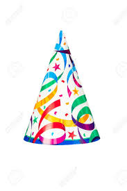 birthday hat a birthday or new years party hat isolated on a white background
