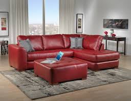 Red Sofa Set Sofas Center Living Room Furniture Leather Chaise And Classic