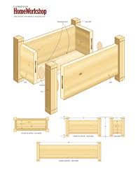 wooden planter plans herb planter box planter free trellis plans