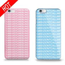 pattern design words new phone case for iphone 5s 6 6s hotline bling words pattern design