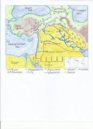 Arabian Desert Map Mesopotamia