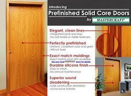 Sound Dening Interior Doors Mastercraft Prefinished Wheat Oak Flush Solid Interior Door